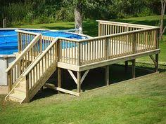 12x16 deck on round pool my projects pinterest decking