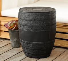 drum table for sale metal drum accent table pottery barn