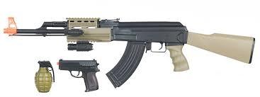 ak 47 laser light combo amazon com uk arms airsoft ak47 airsoft electric rifle aeg semi