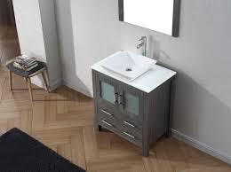 Bathroom Vanities 30 by Virtu Usa Dior 30 Single Bathroom Vanity Set In Zebra Grey