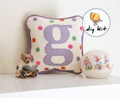 initial needlepoint kits beginner starter kit baby tapestry kit