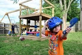 elegant building a backyard playground lapar