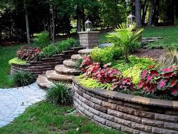 Pics Of Backyard Landscaping by Best 25 Retaining Wall Gardens Ideas On Pinterest Garden