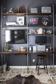 Industrial Pipe Bookcase Diy Industrial Pipe And Wood Shelves Tips And Tricks Design