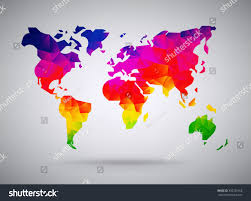 Cool World Maps cool abstract colorful rainbow stylized world stock vector