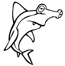hammerhead shark coloring free animal coloring pages sheets