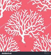 seamless coral print background pattern stock vector 165911999