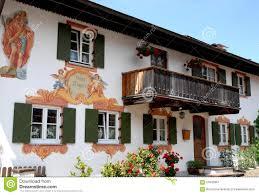 house of oberammergau in bavaria germany stock image image