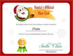 the printable santa s list from free letter from santa claus