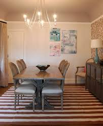 orange county trestle dining table room transitional with capiz