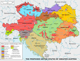 Map Of Germany And Surrounding Countries by United States Of Greater Austria Wikipedia