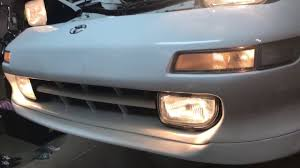toyota mr2 fog lights diy toyota mr2 sw20 fix strip fog lights bolts youtube