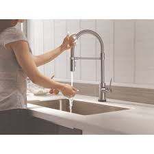 Touch2o Kitchen Faucet by Delta Faucet 9659t Ar Dst Trinsic Arctic Stainless Pullout Spray