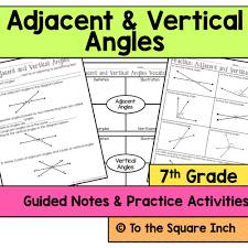 adjacent and vertical angles notes by katembee teaching