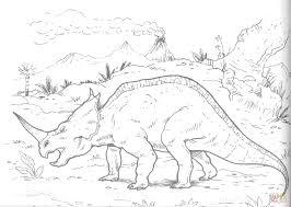 centrosaurus lambe dinosaur coloring page free printable