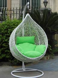 Swinging Lounge Chair Egg Chair With Stand Outdoor Wicker Hanging Newest Comfy Swinging
