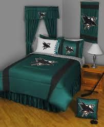 Curtains San Jose San Jose Sharks Comforter Sham Bedskirt Valance Curtains To