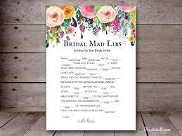 bridal mad libs sn34b 5 x7 floral chic printabell create
