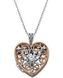 cubic zirconia heart necklace images Giani bernini cubic zirconia openwork filigree heart locket 18 tif