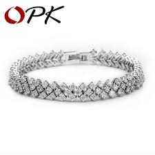 aliexpress buy new arrival white gold color aaa opk clear synthetic bracelet white gold color aaa zircon