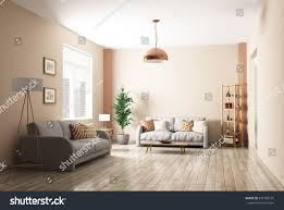 modern interior living room two gray stock illustration 475709137
