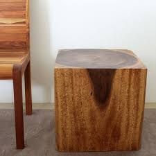 wood cube end table 18 x 18 x 18 cube end table natural wood decor
