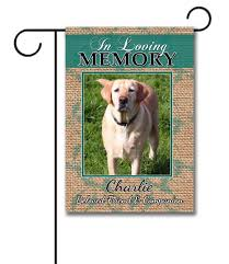 dog memorial burlap pet memorial photo garden flag 12 5 x 18 custom
