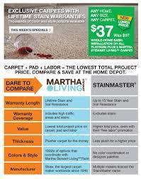 marketing your store online home depot carpet martha stewart vs