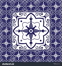 Tile Floor In Spanish by Blue White Tiles Floor Vintage Pattern Stock Vector 489973291