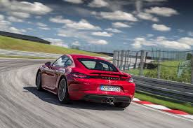 red porsche boxster 2017 2017 porsche 718 cayman first drive review performance trumps