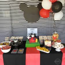 Mickey Mouse Table by A Mickey Mouse Birthday Party The Happy Go Lucky Clubthe Happy