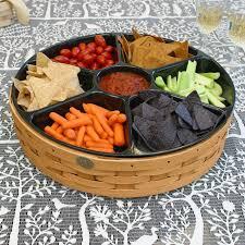 peterboro grand buffet lazy susan optional serving tray