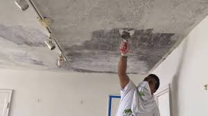Remove Painted Popcorn Ceiling by Popcorn Ceiling Removal Skim Coat Plaster Contractor Brooklyn