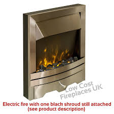 electric white surround black silver steel led flame fire wall