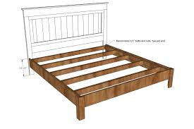 Kingsize Bed Frames King Size Wood Bed Frame Plan And Measurement Design Idea Photo