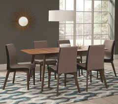 Coaster Dining Room Sets Coaster 106591 592 Redbridge 7 Piece Natural Walnut Dining Table Set