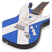 la electric guitar complete pack scottish flag at gear4music com