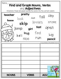 adjectives and nouns worksheet nouns verbs adjectives worksheets free worksheets library