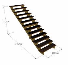 limon d escalier en bois kit escalier 13 marches largeur 120 cm marches en ipé du brésil
