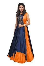 party wear gowns aracruz clothing ethnic gowns for party wear designer orange blue