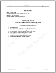 sample resume volunteer experience model resume format bridal