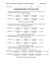 worksheet lim reactants u0026 per yield concept u0026 reg teac