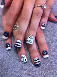 37 best anchors images on pinterest nautical nails anchor nail