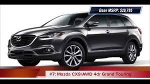 mazda suv cars top 10 2013 lowest price suvs with 3rd row seats youtube