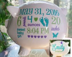 customized piggy bank baby baptism piggy bank etsy