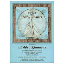 nautical baby shower invitations nautical sailboat baby shower invitation blue brown rustic