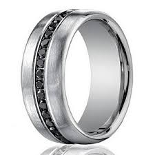 mens black wedding rings designer 14k white gold men s eternity band black diamond 7 5mm