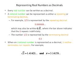 rational and irrational numbers lessons tes teach