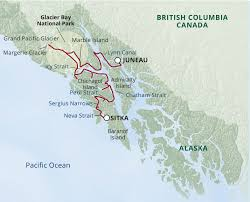 Alaska Ferry Map by Itinerary Map Images Uncruise Adventures