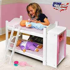 American Doll Bunk Bed American Doll Bunk Beds With Ladder And Storage Armoire